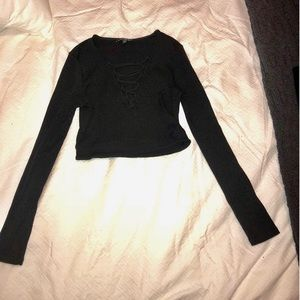 Express Long Sleeved Crop Top